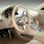 Bugatti Veyron's interior view